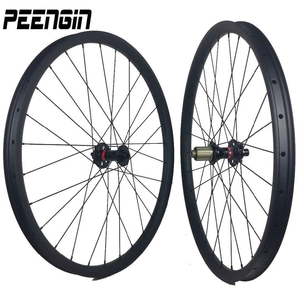 1360g 29er Light OEM carbon wheels mountain bike XC 27er 30X25mm 26inch wheelsets Novatec/powerway/DT 350 240s QR/TA option hub