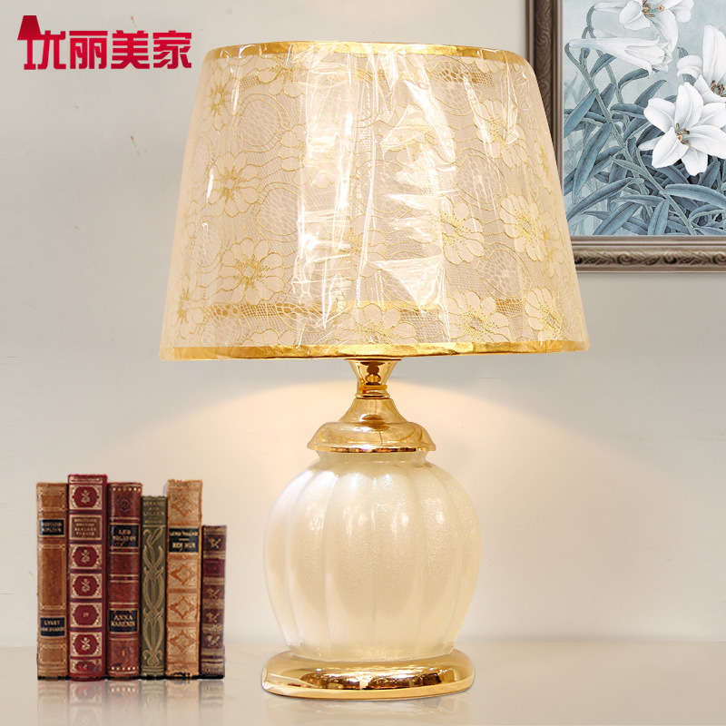 TUDA Free Shipping Modern Style Glass Table Lamp High Grade Lace Cloth Shade Table Lamp Decoration LED Desk Lamp E27 110V-220VTUDA Free Shipping Modern Style Glass Table Lamp High Grade Lace Cloth Shade Table Lamp Decoration LED Desk Lamp E27 110V-220V