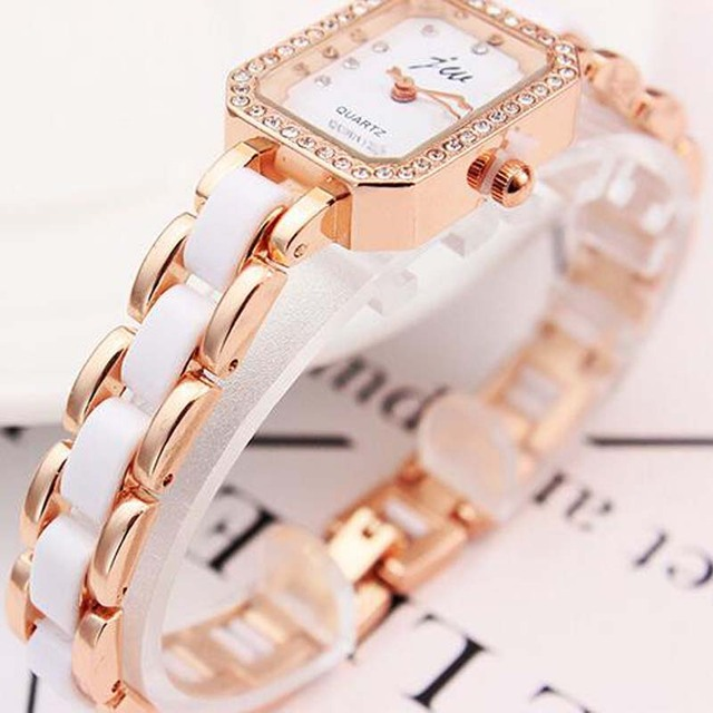 Fashion Brand Bracelet Watches Women Luxury Rose Gold Stainless Steel Wristwatch