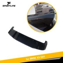 Для BMW X3 G01 не для X3M ABS карбоновый вид/глянцевый черный Окрашенные задний спойлер на крышу загрузки губ крыло губ