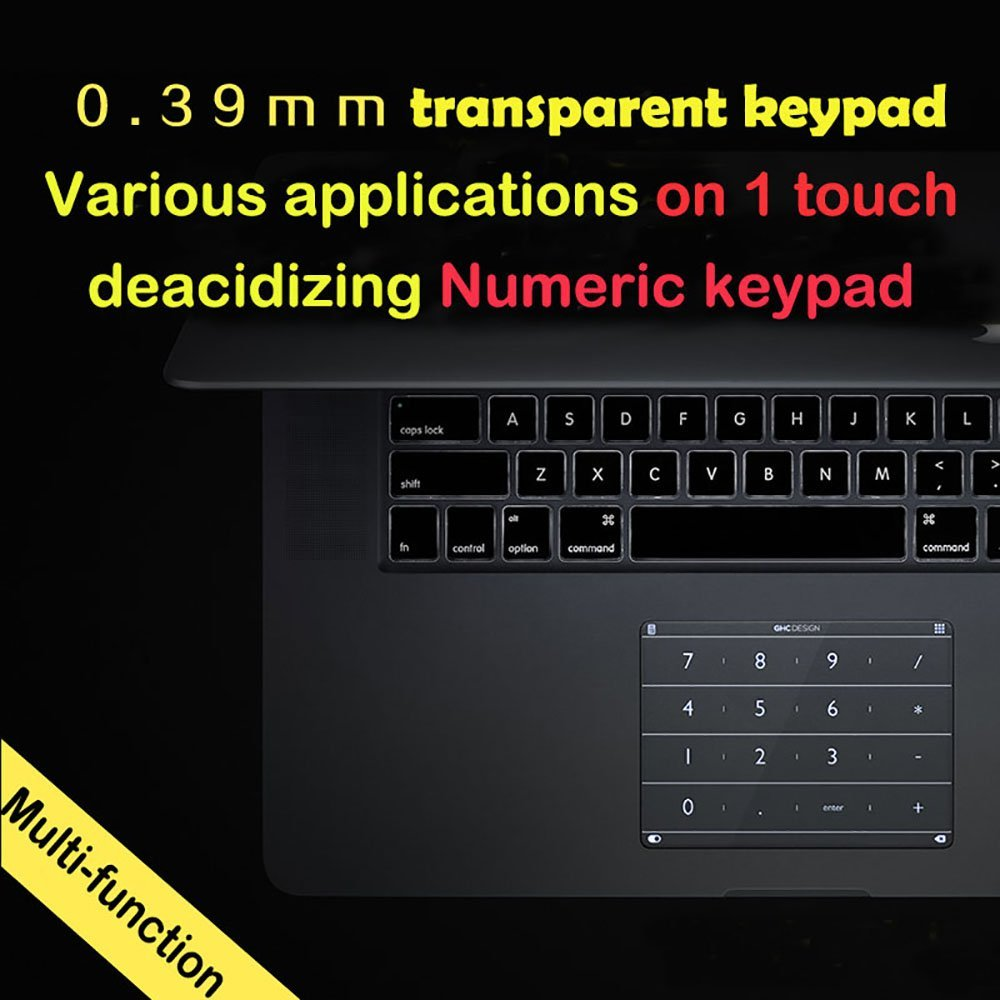 Nums Track Pad Touch Pad For 2017 15 Inch Macbook Pro Touch Bar Use Smart Touch Keyboard 20 Keys Wireless Mini Touch KeyboardNums Track Pad Touch Pad For 2017 15 Inch Macbook Pro Touch Bar Use Smart Touch Keyboard 20 Keys Wireless Mini Touch Keyboard