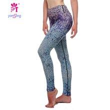 Yomsong  Womens Workout Leggings For Summer Fitness legging high waist Elastic Sporting leggins  femal 388-12 13