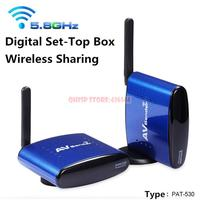 PAT 530 5 8G Wireless AV TV Audio Video Sender Transmitter Receiver IR Remote For IPTV
