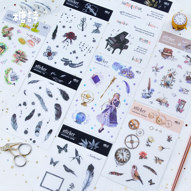 Vintage Collection Lovely Cute Decorative Scrapbooking Craft Sticker Diary Album Sticker Adhesive