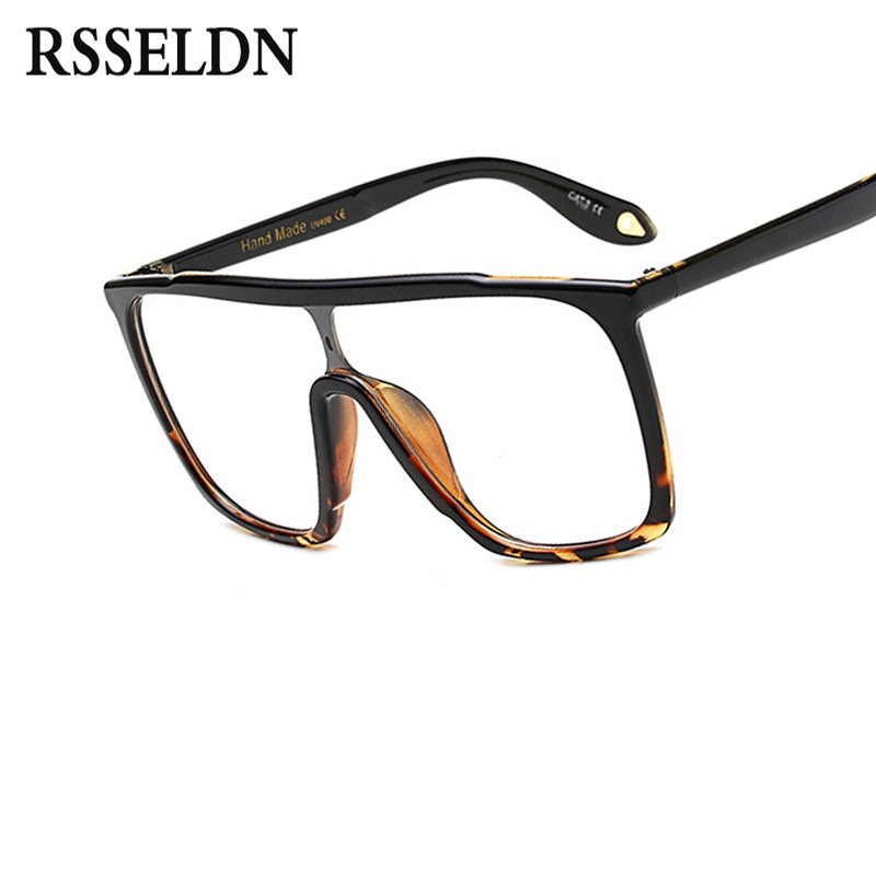 Hot Sale RSSELDN Fashion Oversized Glasses Square Black clear Lens ...