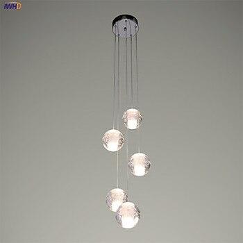 IWHD bola De cristal LED lámparas comedor moderno colgante lámpara ...