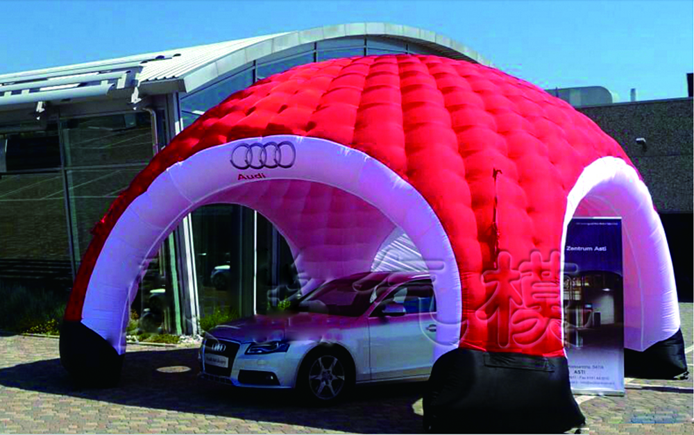 red double inflatable lawn tent meeting igloo for shelter