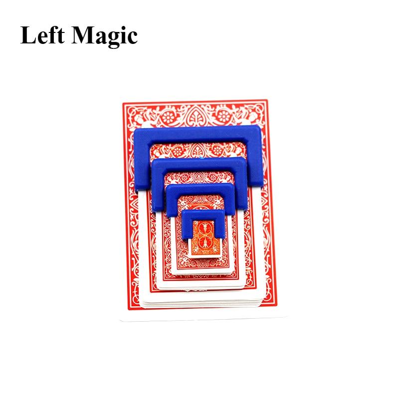 מצחיק כרטיסי התכווצות קסם טריקים גדול כדי לשחק כרטיס אימון קטן עבור ביצועי הבמה המפלגה אשליה מנטליזם אביזרים