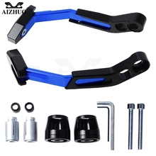 7/8 In Handlebar Protector Brake Clutch Protect Motorcycle Lever Guard FOR SUZUKI GSX-R600 750 1000 GSR750 GW250F SV650 TL1000S for suzuki tl1000s gsr600 abs gsr750 abs gsx s750 shorty long new 3d motor brake clutch lever motorcycle aluminum top quality