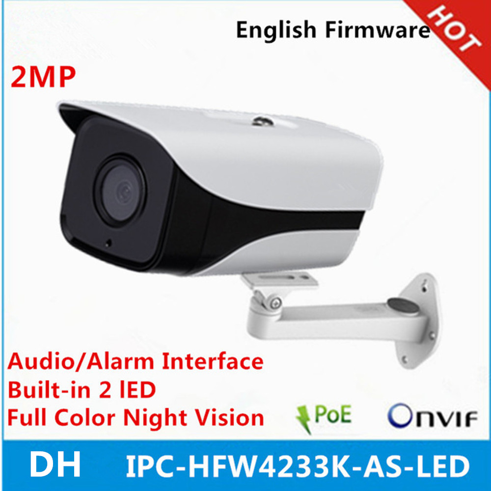DH IPC HFW4233K AS LED built in POE SD Card slot Audio Interface with bracket Full