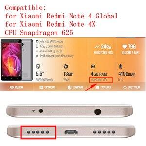 Image 2 - Pour Xiaomi Redmi Note 4 ensemble de numériseur décran tactile daffichage à cristaux liquides Global pour redmi note 4x snapgradon 625 pièces de réparation décran