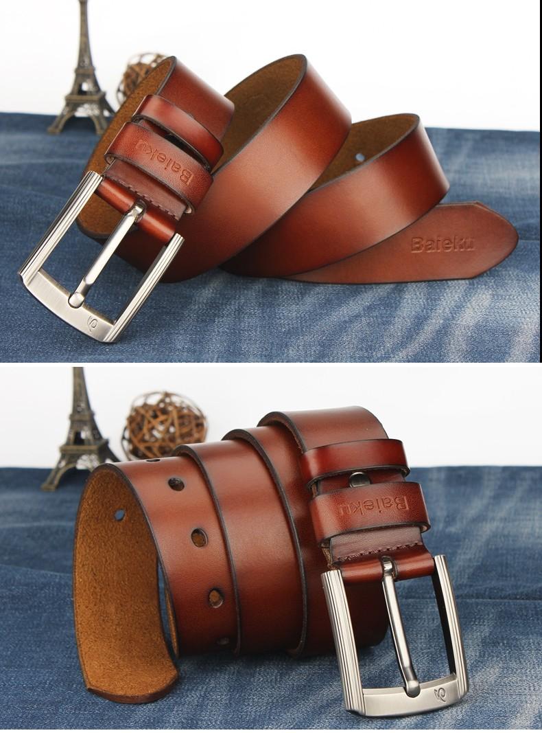 0025e401c09 ... BAIEKU 17 Newest designer belts men high quality cow genuine leather  vintage pin buckle ceinture mens