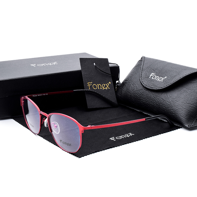 2017 Female New Brand Titanium Clear Glasses Women Myopia Glasses Ladies Computer Reading Eyeglasses Frame Best Quality Tinize