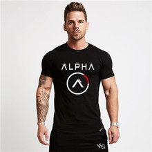Brand Clothing Fitness T Shirt Men Fashion Extend Long Tshirt Summer Gyms short Mens T shirt