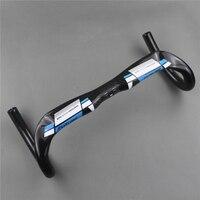 New Free Shipping FUTURE Full Carbon Fiber Road Bike Handlebar Racer Handle Blue Breaking Wind Bent
