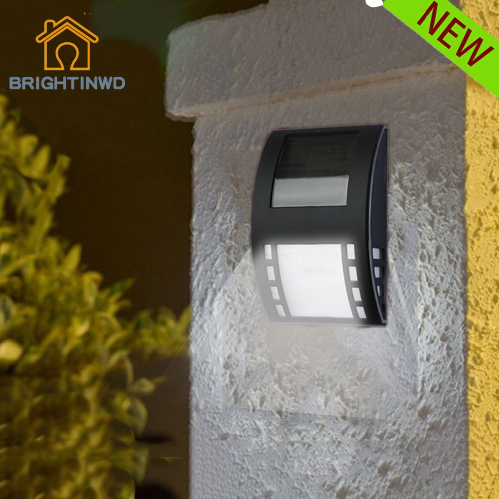 3LED Solar Lamp 2V IP65 Spinner Garden Decoration Waterproof Wall Solor Panel Light Control Generator Powerful Energy Lighting