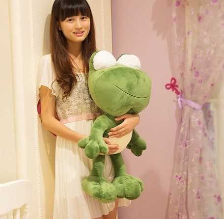 Hot 70cm special cute cuddly frog prince plush animal decoration doll soft hold pillow stuffed toy birthday gift 1 pc
