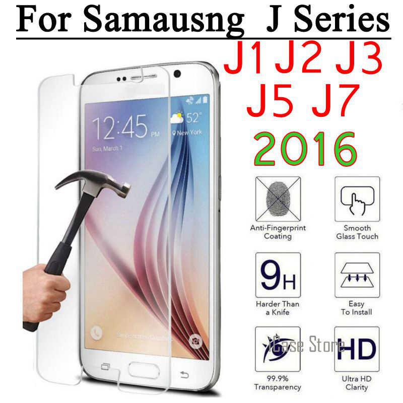 9H Telefoon Glas Voor Samsung Galaxy J1 Ace Mini Neo Duos J2 J3 Pro J5 J7 2016 J100 J500 j710f Screen Protector Film Cover Case
