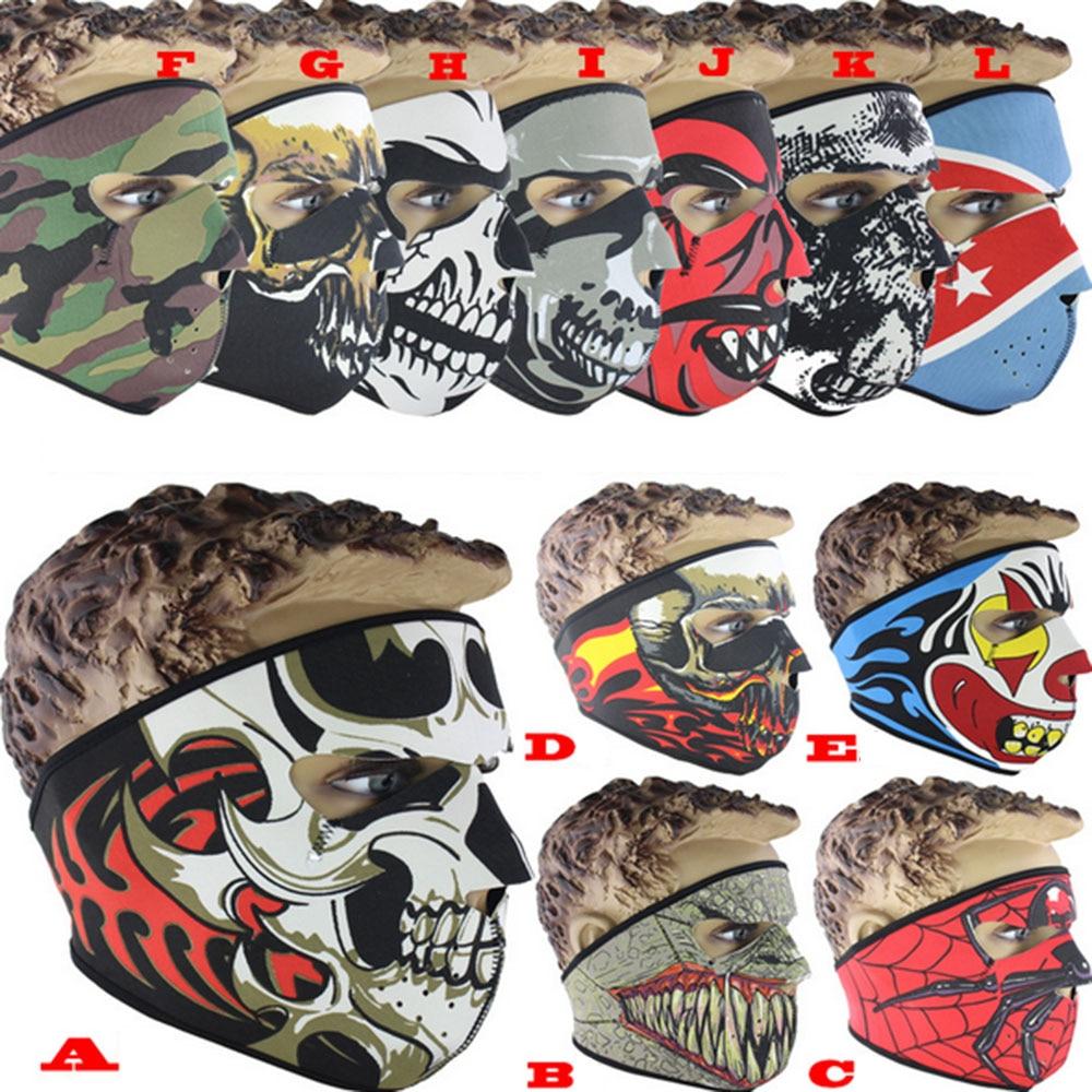 Full face mask neck warmer hood balaclava outdoor winter sports hats - Wholesale 1000pcs Lot Outdoor Cycling Ski Mask Cs Sport Skull Winter Warmer Full Face Mask