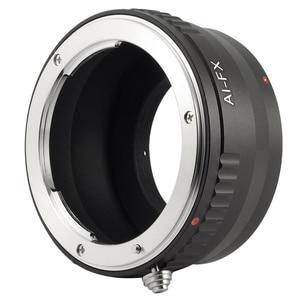 Image 4 - สีดำเลนส์อะแดปเตอร์สำหรับเลนส์Nikon F AIกล้องFujifilm X Mount Fit Fuji X E1 DC287