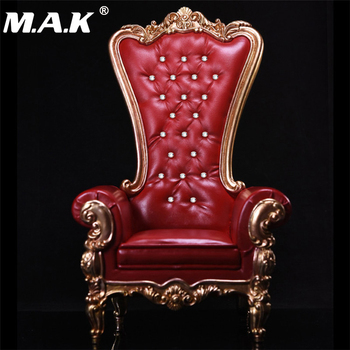 1/6 Scale Figure Accessory Red Color with Crystal European Queen Sofa Chair Models  for 12''  Figures Bodies