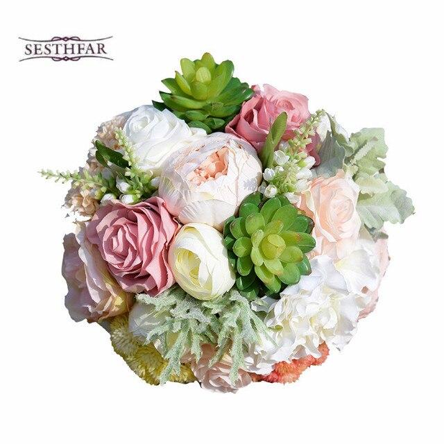 Wedding Bouquets 2017 Succulent Plants Bouquet Chic Wedding Flowers ...