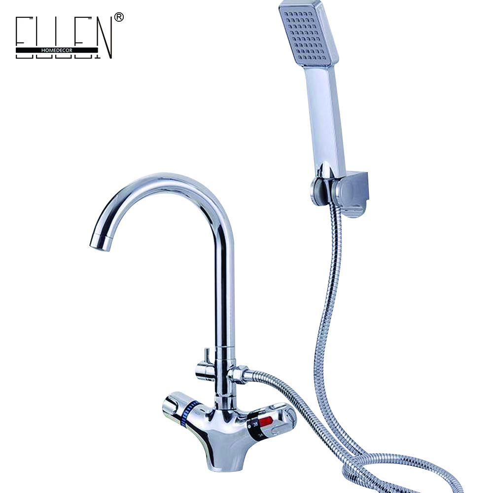 Bathroom Basin Faucet Thermostatic Bathroom Crane Water Tap Mixer With Hand Shower
