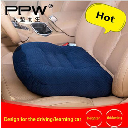 PPW Soft comfortable Home Office Decor Square Driving car Thicken Seat Cushion Pillow Buttocks orthopedic seat