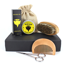 New Organic Men Beard Oil Set With Beard Oil , Brush,Comb,Beard Cream Male Beard Care Set Healthy growth
