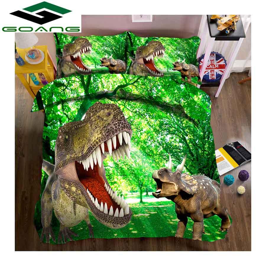 GOANG 3d Bedding Sets Bed Sheet Duvet Cover Pillow Case Dinosaur Bedding 3pcs Children Room Decoration Gifts