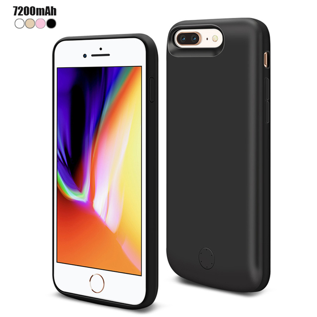 finest selection 1ce36 adcb0 US $29.99 |JLW 7200 mAh For iPhone 8 Plus Battery Smart Charger Case Cover  For iPhone 7 Plus 6s Plus 6 Plus Power Bank Capa Fundas-in Battery Charger  ...