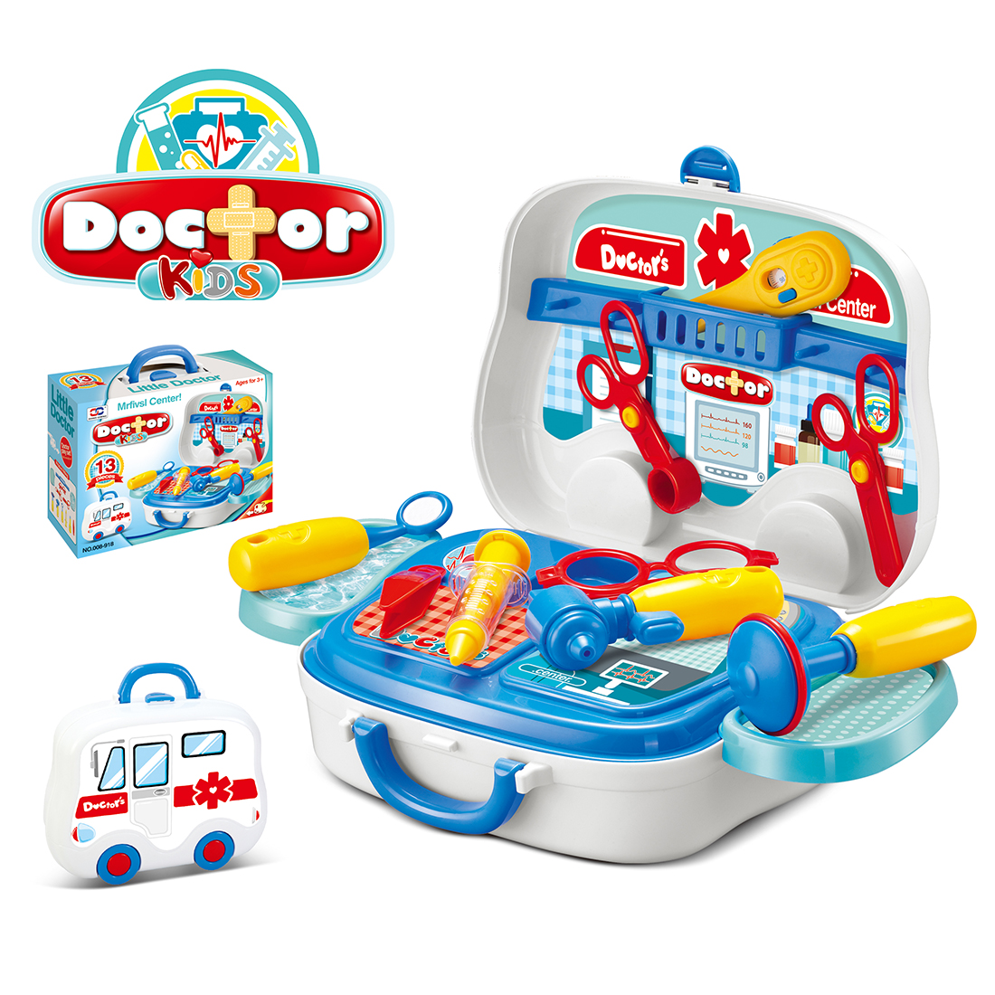 Children Doctor Toys Simulation Pretend Toys Doctor Portable Suitcase For Early Development Educational Kid Toy Gift