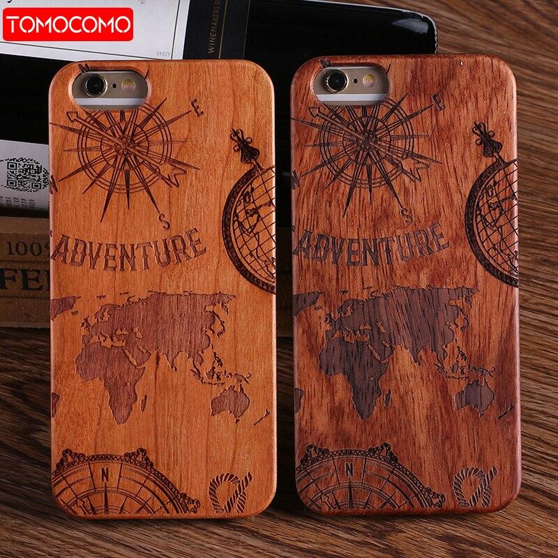 TOMOCOMO Für iPhone 5 6 6 Plus 7 7 Plus 8 8 Plus König Königin Crown Weltkarte Beten Echtholz-fall Für SAMSUNG Galaxy S7 rand