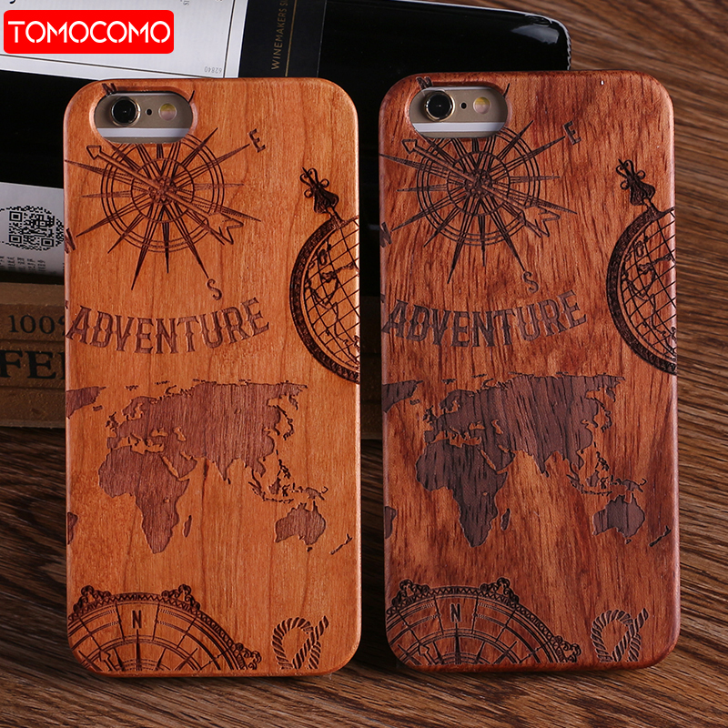 TOMOCOMO For iPhone 5 6 6Plus 7 7Plus 8 8Plus King <font><b>Queen</b></font> Crown World Map Praying Real Wood <font><b>Phone</b></font> <font><b>Case</b></font> For SAMSUNG Galaxy S7 Edge