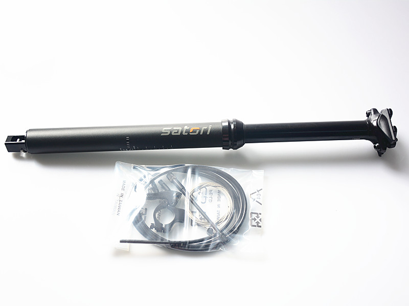 SATORI Shifter interna vivienda bici contacto interruptor remoto ajuste 30,9/31,6mm X 455mm viaje 145mm - 3