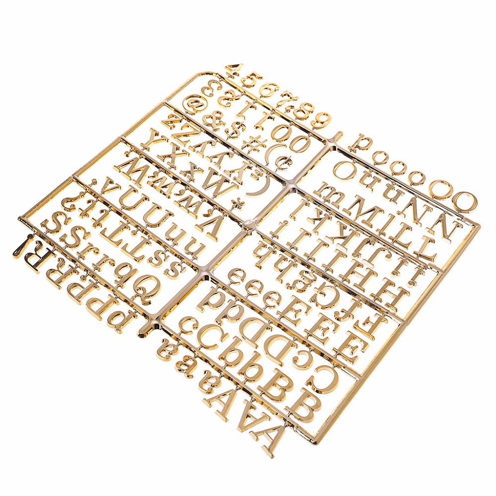 NNRTS Golden Characters For Felt Letter Board Numbers For Changeable Letter Board