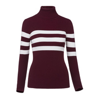 Sisjuly Autumn Winter Casual Thick Female Patchwork Burgundy Sweater Outerwear O Collar Street Wear Pullover Shopping