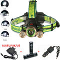 2016 New 5000 Lumen Headlamp XM-L T6+2R5 Rechargeable LED Headight 4Mode Flashlight Head lamp+2x 18650 Battery/Charger
