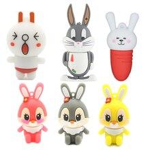 Śmieszne dyski typu flash USB 16GB Anime Cute Rabbit Bunny Pendrive 64GB spersonalizowane kreskówki 32GB pen drive 4GB 8GB U dysku dziewczyna prezenty