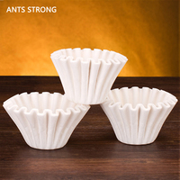 ANTS STRONG DG 4 hand punch coffee filter paper/cake type wave filter paper round coffee filter cup drop filter paper