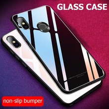 Solid color Tempered Glass Case For Xiaomi Redmi 7 S2 Note 6