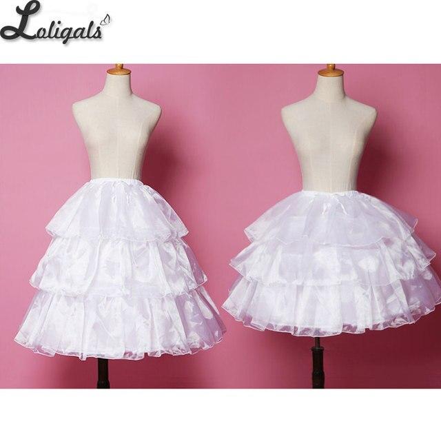 2db76268ecd85d Sweet Lolita Covertible Hoop Skirt Black/White Short Cosplay Petticoat  Underskirt