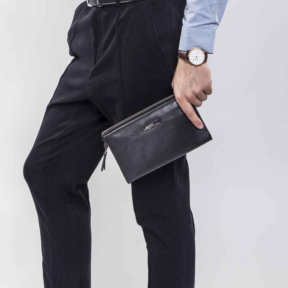 BISON DENIM luksusowy portfel męski zamek zamknięty długa torba sprzęgła biznes kopertówka ze skóry naturalnej torebka ze skóry bydlęcej dla mężczyzn N8009-1
