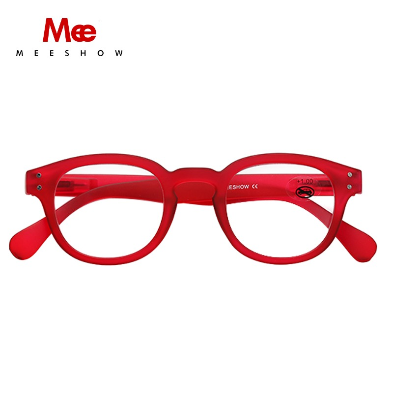 e58375d9725 Meeshow trendy RED Reading Glasses Retro Europe style quality Men women eye  glasses with flex drop