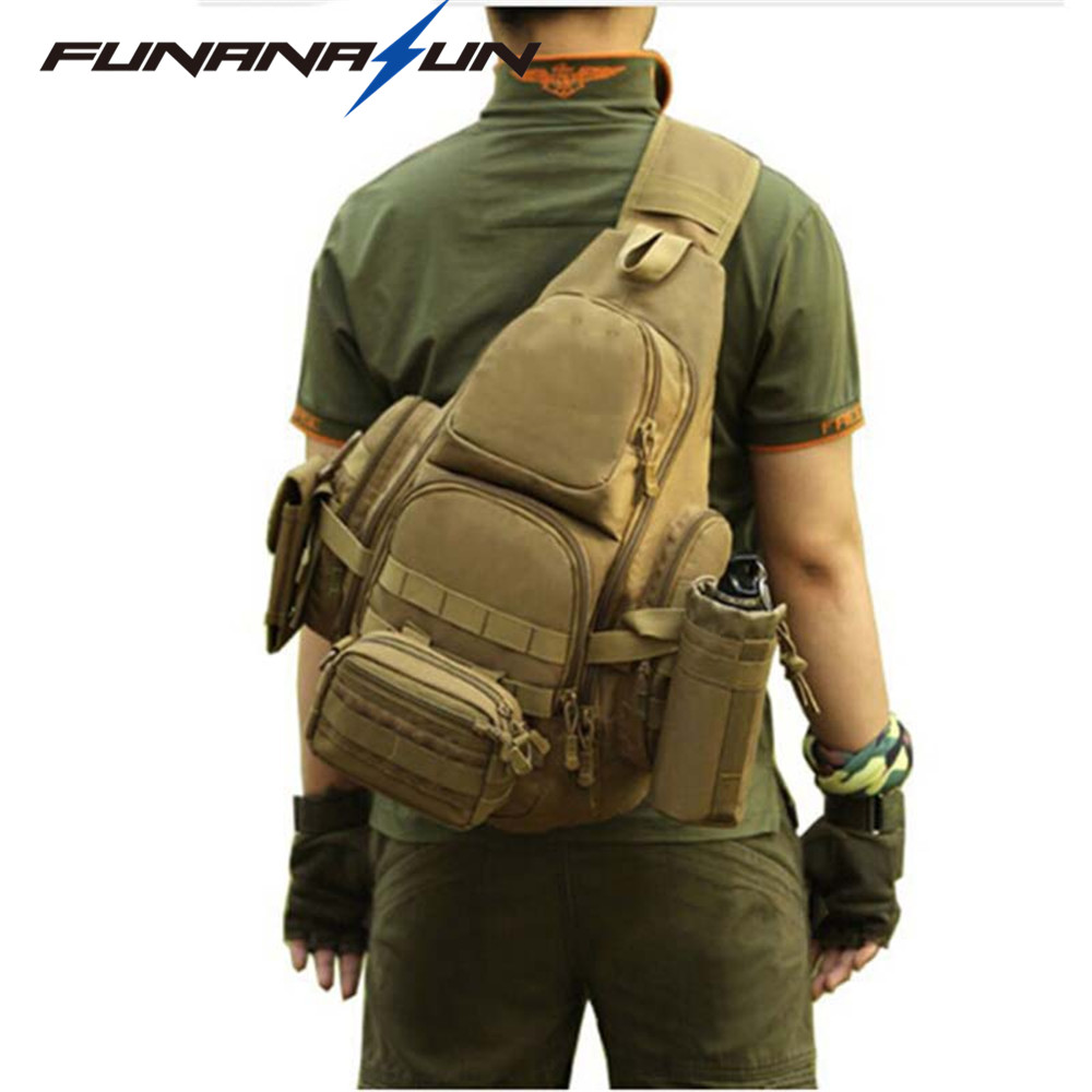 314e6137f3 Detail Feedback Questions about Outdoor Shoulder Bag Molle Backpack  Military Tactical Sling Backpack Waterproof Climbing Hiking Backpack Men Travel  Bag 14