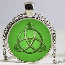 Trinity Celtics Pendant Necklace dingyi 2017 vintage Round Glass Necklace Celtics Trinity Vintage Pendant Lot