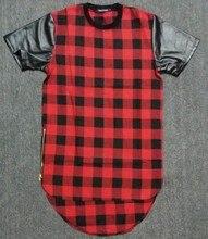 Summer Kanye west Red T-shirt Dress Swag New 2015 Fashion Diamond Men's t shirts Cool tshirt Short Sleeve Man Tyga Top Shirts