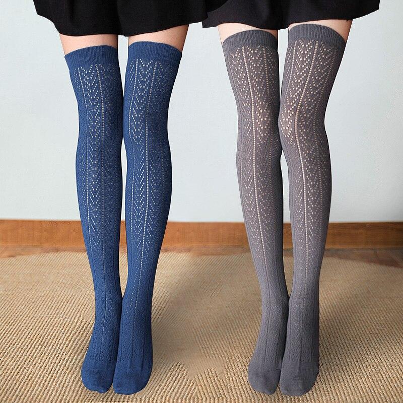Girls Cute Thigh High Long Stockings Plus Size Women Sexy Stockings Cotton Kawaii Woman Stockings Over Knee Alanshow