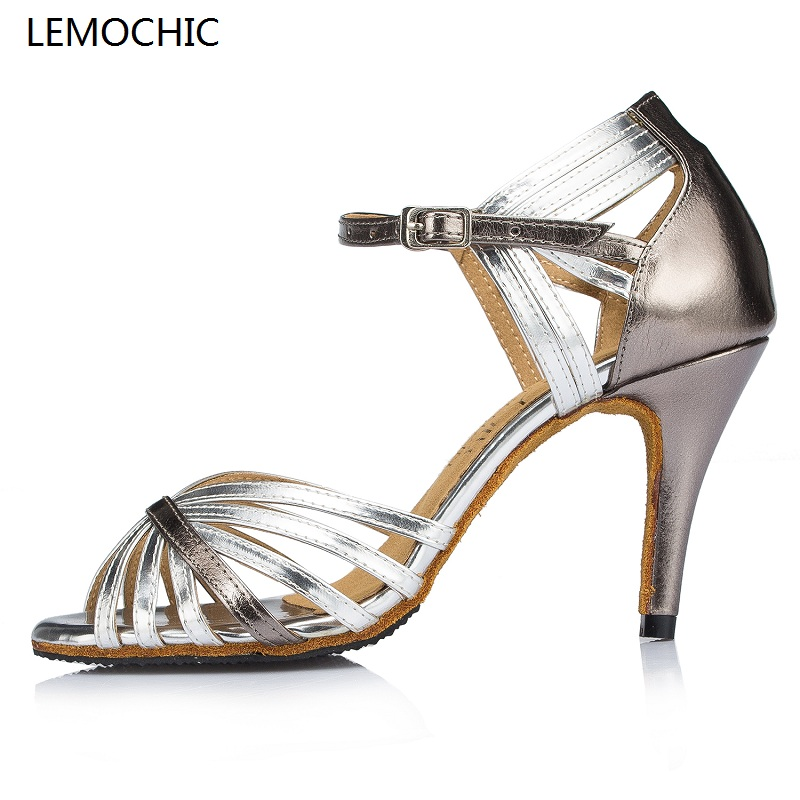 LEMOCHIC hot sale flamenco latin samba ballroom cha-cha party tango rumba arena newest performance professional dance shoes lemochic hot sale women salsa cha cha double steps latin tango pole dancing performance arena classical professional dance shoes
