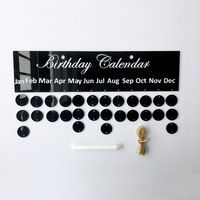 Birthday Calender 3D mirror sticker Home decoration Gold silver wall stickers